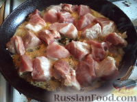Фото приготовления рецепта: Мясо с айвой - шаг №3
