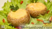 Фото к рецепту: Горячие закусочные булочки с начинкой