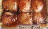 Фото к рецепту: Куриные бёдра под медовым соусом (в духовке)