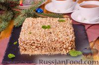 """Фото к рецепту: Торт """"Песочный"""" со сгущенкой"""