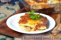 Фото к рецепту: Картофельный гратен с грибами