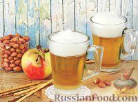 """Фото к рецепту: Десерт """"Кружка пива"""" из яблочного сока"""