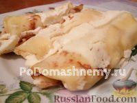 Фото к рецепту: Блинчики с творогом, запеченные в духовке