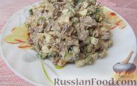 Фото к рецепту: Салат из куриной печени