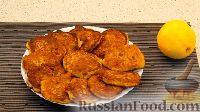 Фото к рецепту: Овсяные оладьи с вишней и апельсином