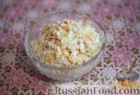 Фото к рецепту: Салат с крабовыми палочками, кукурузой и капустой