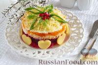 Фото к рецепту: Слоеный салат с картофелем, морковью и свеклой