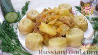 Фото к рецепту: Штрудли с курицей, картофелем и капустой