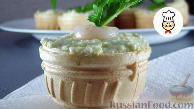 Авокадо творожный сыр тарталетки рецепт