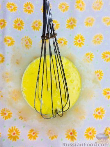Фото приготовления рецепта: Банановый кекс с голубикой (черникой), на растительном масле - шаг №3