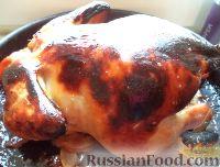 Фото к рецепту: Курица в медово-соевом маринаде, запеченная в духовке