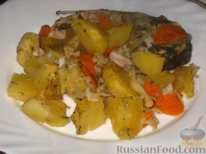 Рецепт Толстолобик, запеченный с овощами
