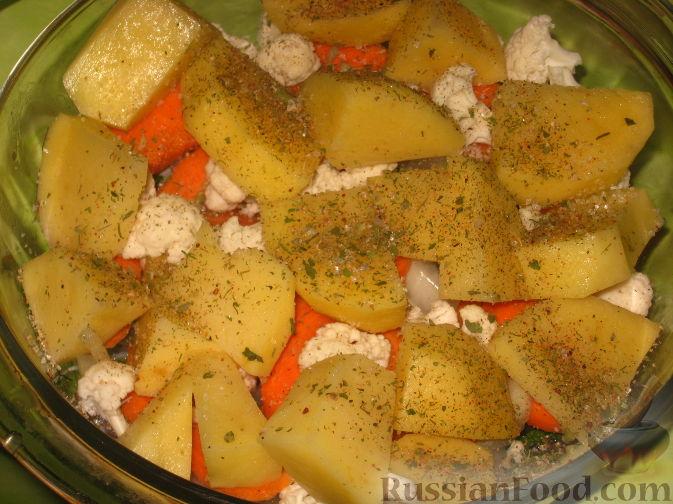 толстолобик с овощами видео рецепты
