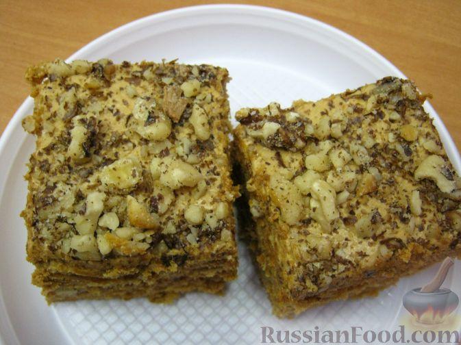 Рецепт Торт Рыжик с орехами
