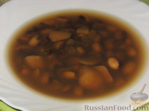 Рецепт Фасолевый суп на говяжьем бульоне