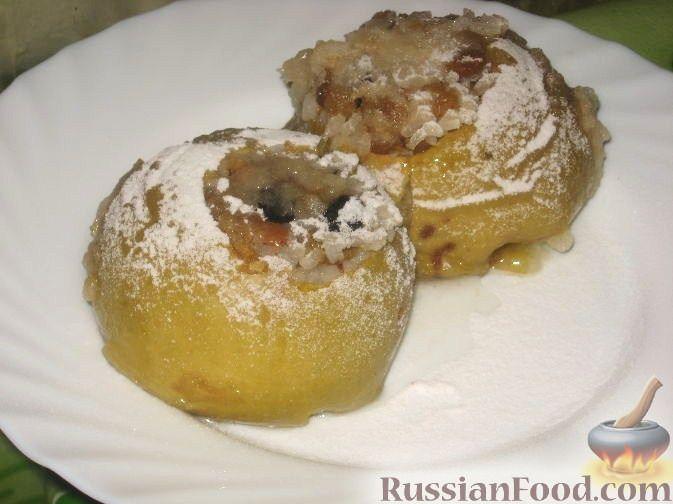 Рецепт Яблоки, фаршированные рисом и изюмом