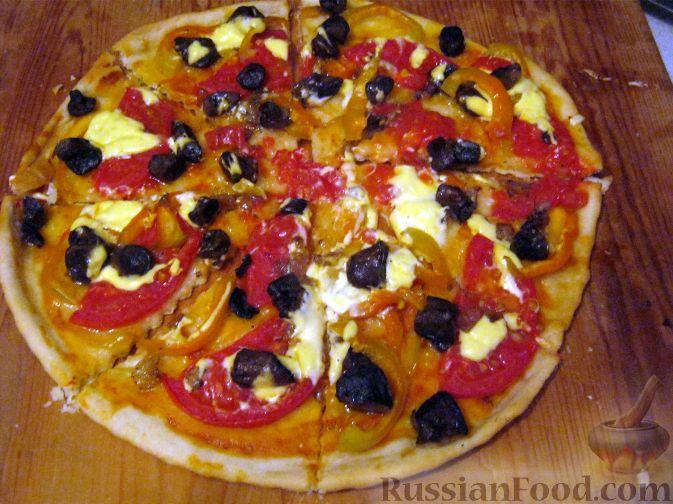 Рецепт Пицца постная овощная