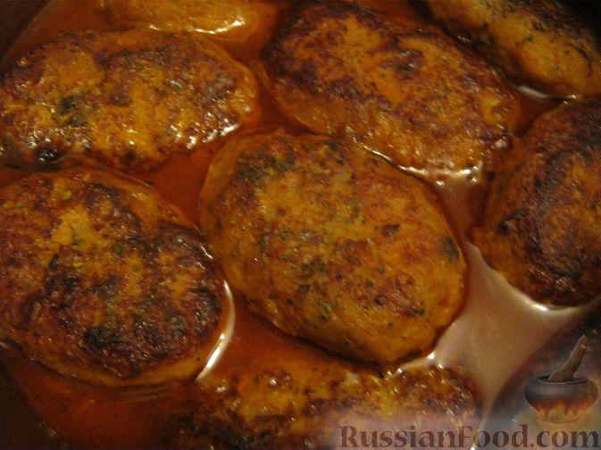Рецепт Котлеты из хека в томатном соусе