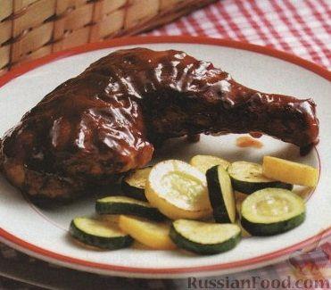 Рецепт Окорочка, запеченные в духовке под томатным соусом