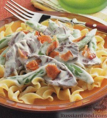 Рецепт Макароны с сырным соусом