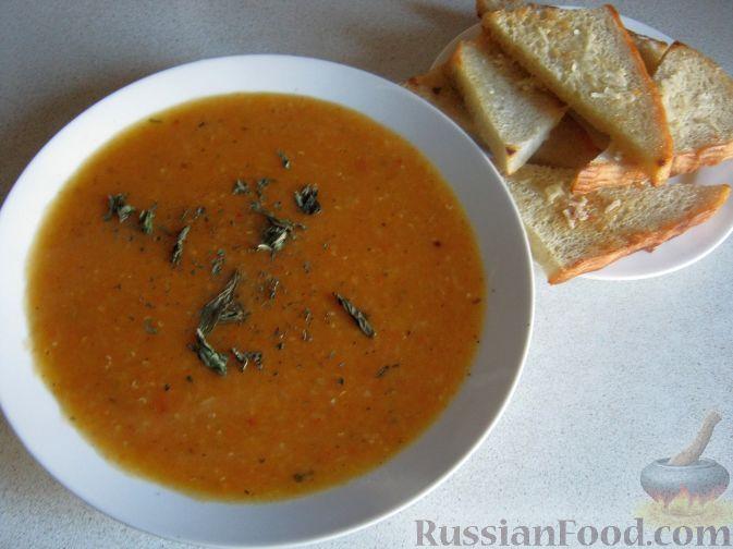 Рецепт Турецкий чечевичный суп-пюре