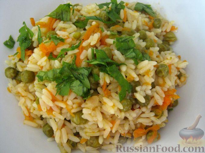 Рецепт Рис с овощами на гарнир