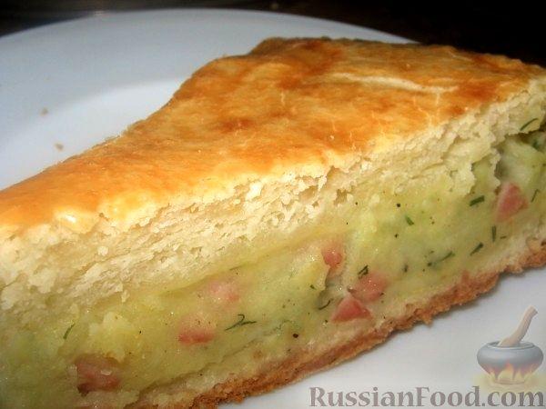 Рецепт Пирог с картофелем и ветчиной