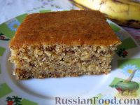 Фото приготовления рецепта: Банановый пирог постный - шаг №8