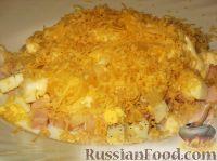 Фото к рецепту: Салат ананасовый с сыром