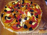 Фото к рецепту: Пицца постная овощная