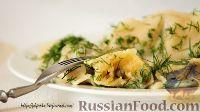 Фото к рецепту: Вареники с картошкой и шампиньонами