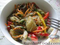 Фото к рецепту: Салат с баклажанами и перцем