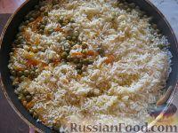 Фото приготовления рецепта: Рис с овощами на гарнир - шаг №8