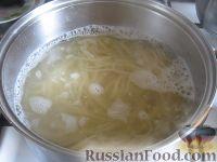 Фото приготовления рецепта: Спагетти в сливочном соусе - шаг №2