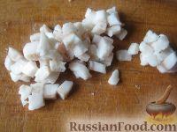 Фото приготовления рецепта: Мамалыга со шкварками и луком - шаг №4