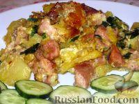 Фото к рецепту: Свинина, запеченная с картофелем