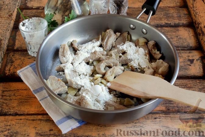 Фото приготовления рецепта: Свиная подлива с тыквой - шаг №6