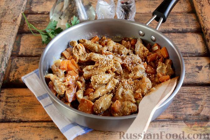 Фото приготовления рецепта: Свиная подлива с тыквой - шаг №9