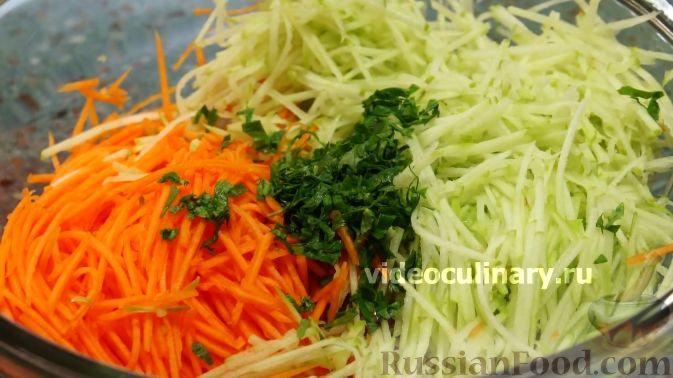Фото приготовления рецепта: Тыквенный салат к мясу - шаг №4