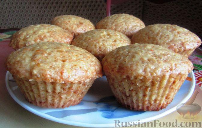 Фото к рецепту: Постные апельсиновые кексы