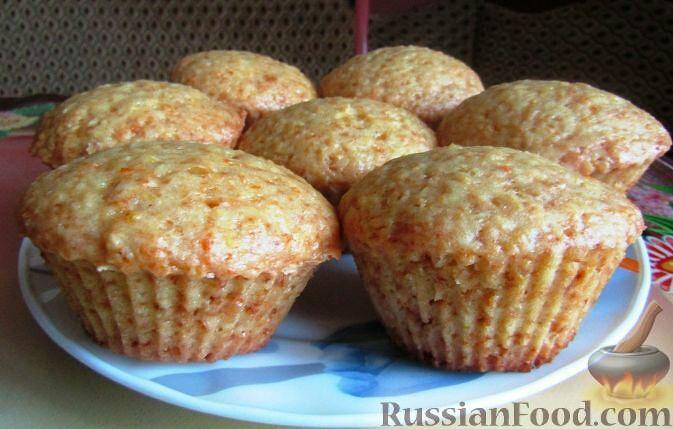 Фото приготовления рецепта: Постные апельсиновые кексы - шаг №8