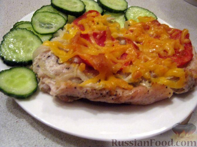 Рецепт Куриное филе под сырной шубой