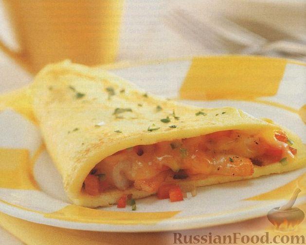 Рецепт Омлет с креветками