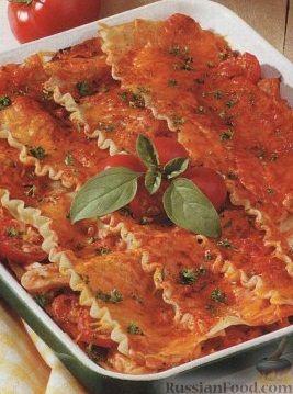 Рецепт Лазанья с куриным мясом
