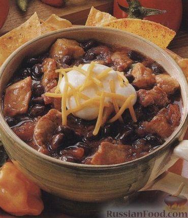 Рецепт Острый суп из фасоли и свинины