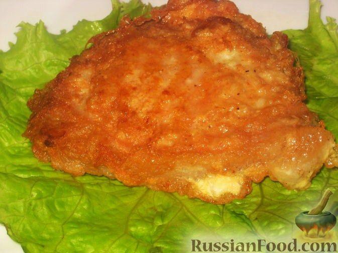 Рецепт Сочная свиная отбивная котлета в яйце