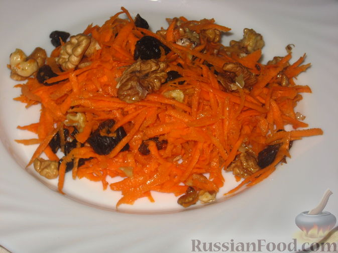 Рецепт Салат из моркови с черносливом