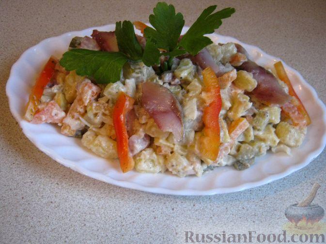 Рецепт Салат из сельди с красным перцем – «Украинский»