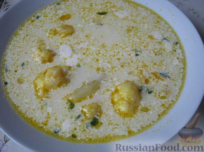 Рецепт Суп сырный с цветной капустой
