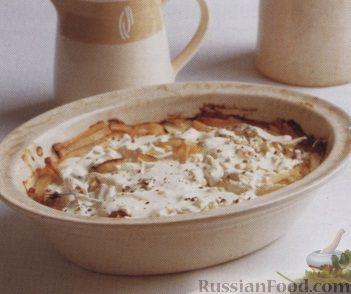 Рецепт Картофель, запеченный с тунцом в сливочном соусе